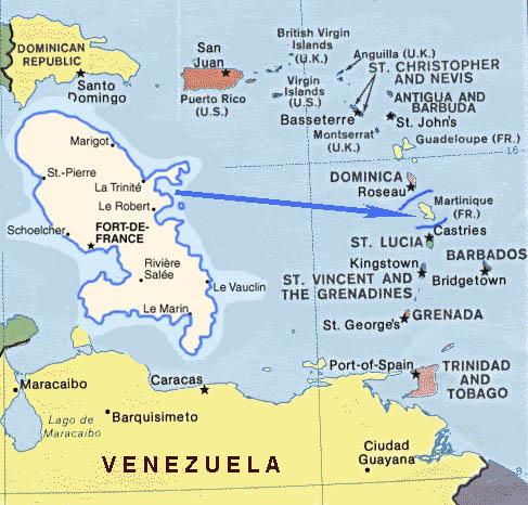 Martinika Map