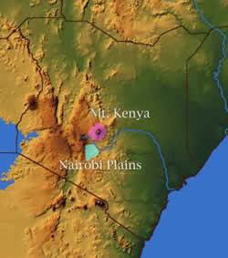 kenya-s map